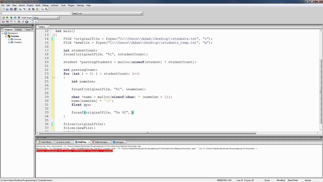 C language online editor