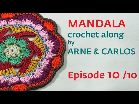 How to Crochet a Mandala. Part 10 by ARNE & CARLOS