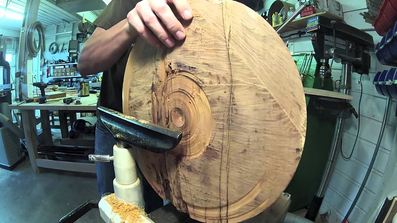 Woodturning A Big Yew Bowl W Bowl Turning Accident Youtube