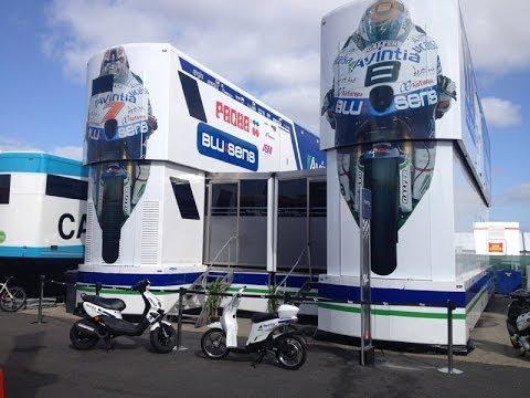 Visita al hospitality de Avintia Racing