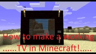 Minecraft How To Make A WORKING TV In 1.7.2!