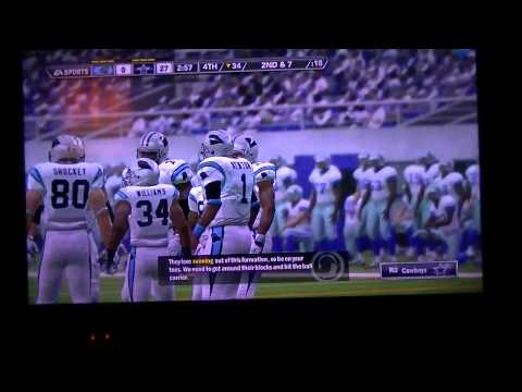Madden 12 WK6 October 11 1998 Panthers vs Cowboys 3 of 3
