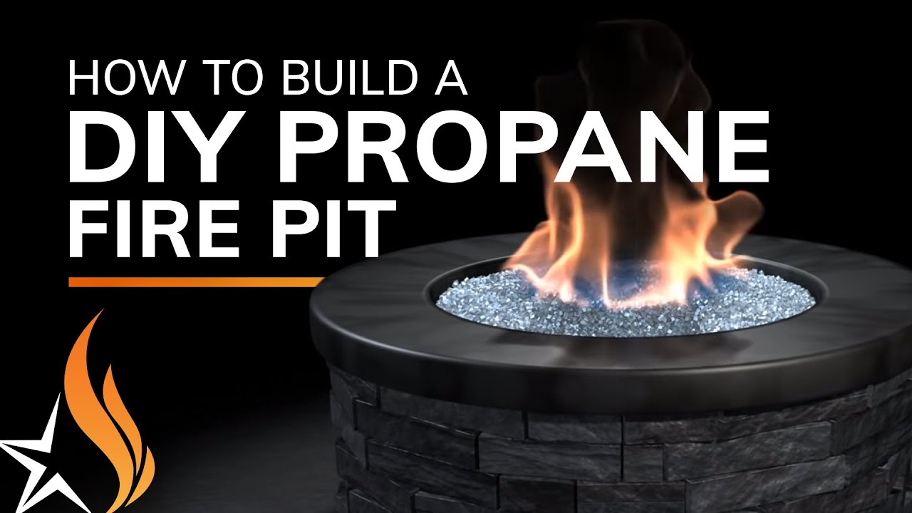 How To Build A Fire Pit With Propane Gas Youtube