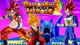Goku SSJ God & Hero Vs Vegeta SSJ God DragonBall Heroes