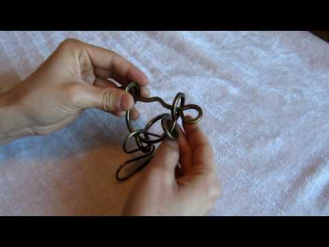 Heart and Loops Wire Disentanglement Puzzle (Part 1)