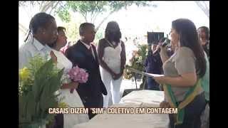Casais de Contagem dizem 'sim' em casamento coletivo