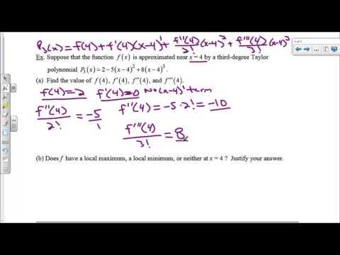 Taylor Polynomials Day 2