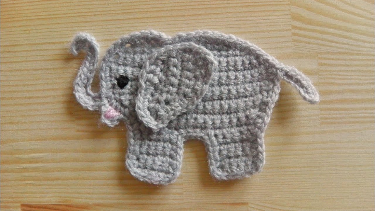 free elephant crochet applique patterns Car Pictures