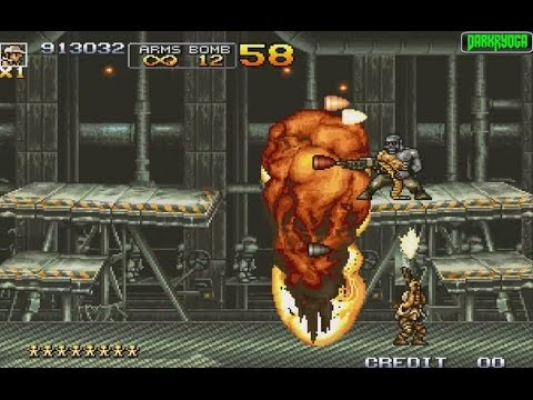 METAL SLUG 4 [CANNON V.S. SPACIAL GUN HACK] (ARCADE NEOGEO MVS) ARCADE LONGPLAY (FULL GAMEPLAY)