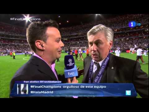 ANCELOTTI dedicatoria - Final CHAMPIONS : REAL MADRID 4-1 ATLETICO