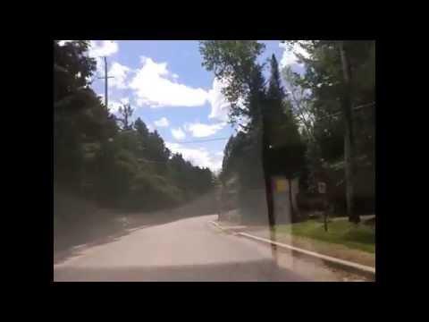 Car ride in Laurentians, Quebec, Canada