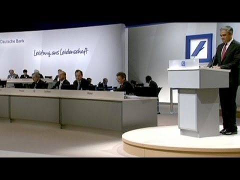 Angry Deutsche Bank shareholders boo bosses over capital hike - corporate