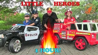 Little Heroes Compilation Video -1 Hour with The Spark, The Stealer, Fire Engines and Kid Cops
