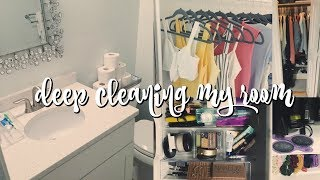 DEEP Cleaning My ROOM!! Organizing & Decluttering