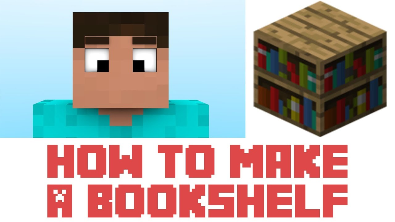 Minecraft how to build a bookshelf images