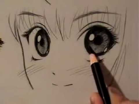 How to Draw Manga Eyes, Four Different Ways (pt.1)