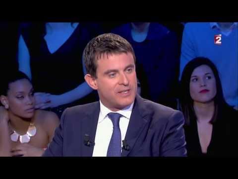 On n'est pas couché - Manuel Valls 21 décembre 2013 #ONPC