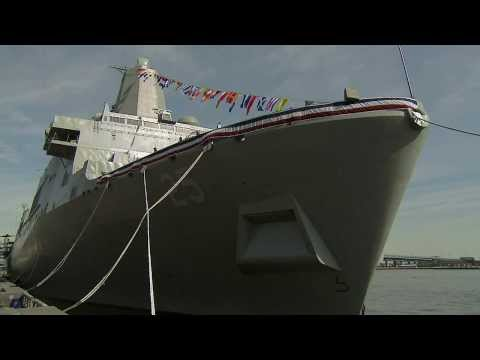 USS Somerset (LPD 25) Commissioning Ceremony (HD)