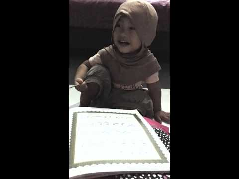 Lil Zia @ 22 months reading alif ba ta