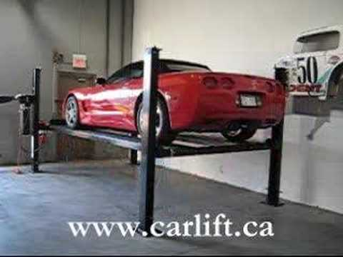 Residential Car Lift With Two Corvettes Youtube