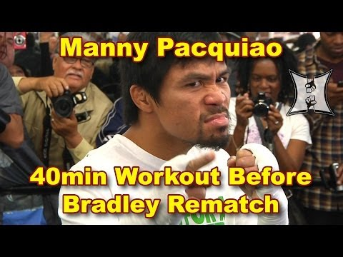 Manny Pacquiao Works Out w/ Freddie Roach Before Timothy Bradley Rematch (40min HD / unedited)