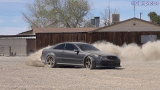 Mercedes CLK Black Series HOONING in the Desert...EPIC Drifts & Donuts!!