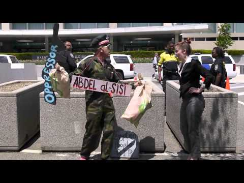 CODEPINK protests US ties to Egypt at State Dept