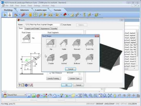 Hgtv home design software adding and editing roofs youtube for Hgtv home design software tutorial