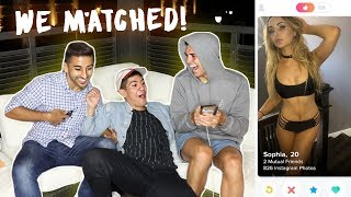 MY FRIENDS HIJACK MY TINDER (they got me a date!) w/ Labib & Kostas