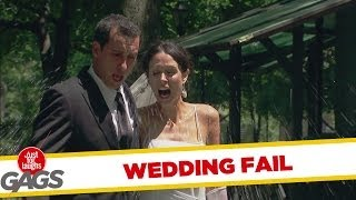 Bride and Groom Get Splashed