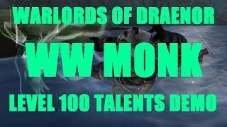 Warlords Of Draenor (Beta): Level 100 WW Monk Talent