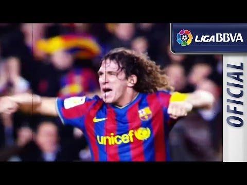 Homenaje a Carles Puyol tras anunciar su marcha del FC Barcelona