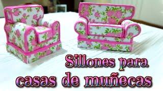Muebles para casas de muñecas, sillones de foami