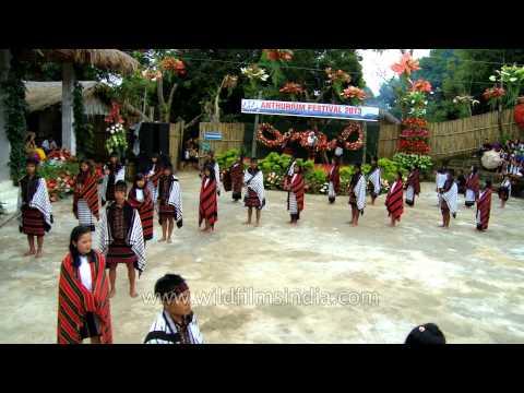 Mizo folk chanting its welcome song