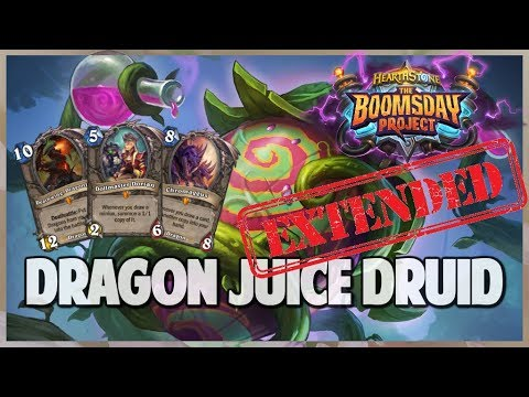 Dragon Juice Druid | Extended Gameplay | Hearthstone | Boomsday Project