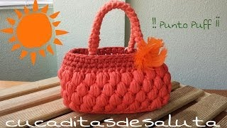 Bolso De Trapillo !! Punto Puff ¡¡ Handbag / Of