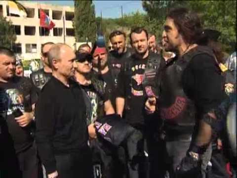 July 13, 2012 Ukraine_Putin visits bikers' camp in Ukraine