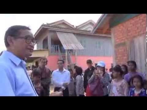 Sam Rainsy Visits Citizens in Komreang District in Battambong - Part1