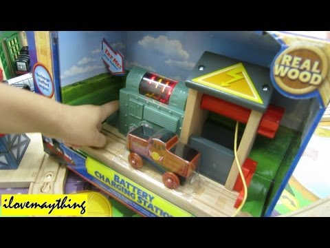 Stafford & the Battery Charging Station - Thomas Wooden Railway