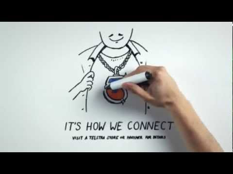 Telstra Commercial 30 Second Version - Drawn by Jeremy Ley / Directed by Josh Logue