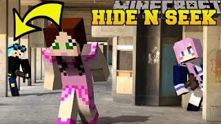 Minecraft: YOUTUBERS HIDE AND SEEK - Morph Hide And Seek - Modded Mini-Game