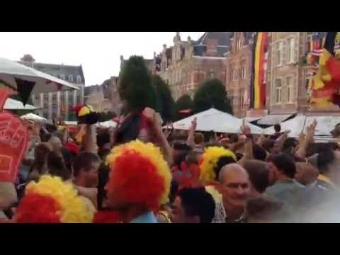 The Leuvenaars Celebrates Belgium 1-0 Russia
