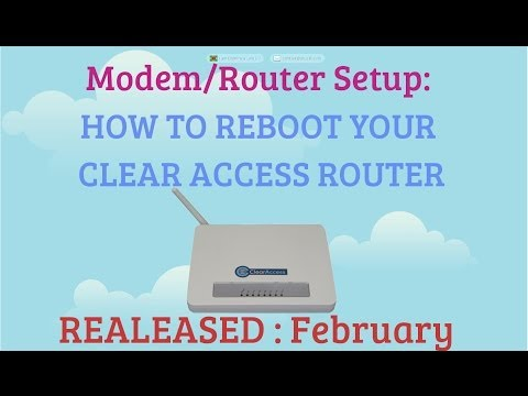 How To Reboot/Restart Your ClearAccess Router or Modem Remotely