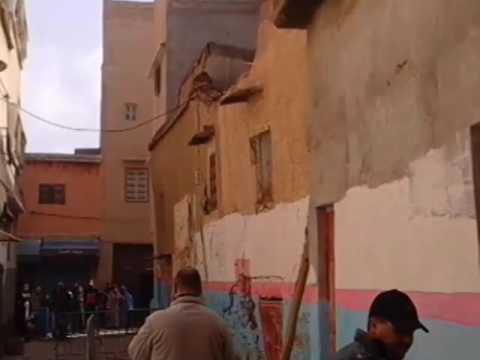 فيديو مباشر لحظة انهيار منزل بتارودانت