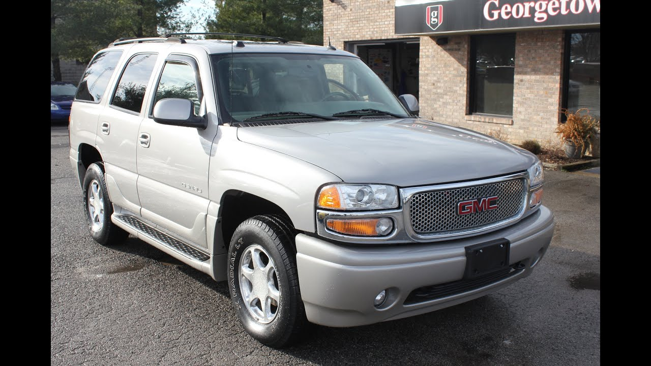 used 2005 gmc yukon denali awd silver for sale georgetown auto sales kentucky sold youtube. Black Bedroom Furniture Sets. Home Design Ideas
