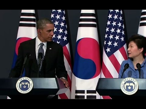 President Obama's Holds a Press Conference with President Park of the Republic of Korea