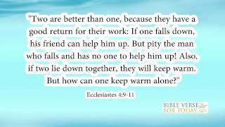 Bible Verse About Friendship Ecclesiastes 4:9-11 Bible