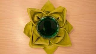 Decoración de servilletas: Flor de loto