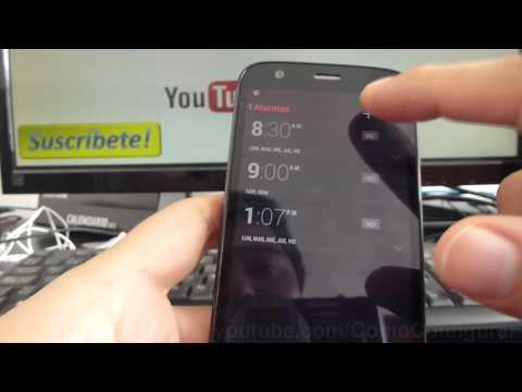 como configurar la alarma en mi Motorola Moto G X T1032 En Español YouTube Full HD