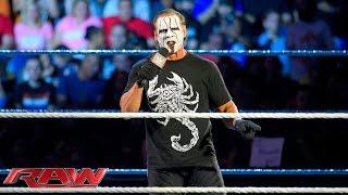 Sting abre WWE Monday Night Raw